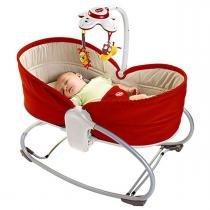 Cadeira de Balanço Tiny Love e Berço Portátil 3 em 1 Rocker Napper - Vermelho -