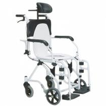 Cadeira de Banho Alumínio Reclinável - Baxmann Jaguaribe - Ortopedia jaguaribe industria e comercio