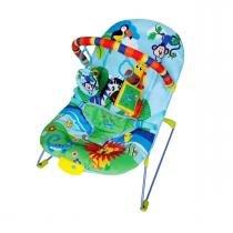 Cadeira de Descanso Musical e Vibratória Soft Ballagio Color Baby Azul -