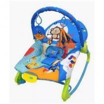 Cadeira de Descanso Musical para Bebê New Rocker Azul - Color baby