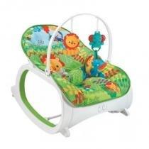 Cadeira de Descanso Musical para Bebê Safari Verde - Color baby