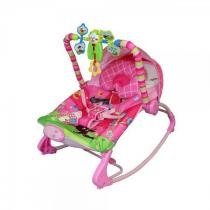 Cadeira de descanso vibratória musical Rocker rosa color Baby até 18kgs - Colorbaby