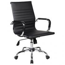 Cadeira de Escritório Giratória Base Cromada - Travel Max Diretor