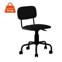 Cadeira de Escritório Giratória Color Pistão a Gás Corano Preto - Mobly