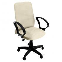 Cadeira de Escritório Tela Diretor Suede Bege - Absolut