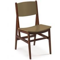 Cadeira de Madeira Dumon Maxima Cacau/Marrom Médio - Maxima