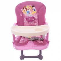 Cadeira de Papinha Dican Disney Princesas - 3 Níveis de Altura Regulável p/Crianças até 15kg