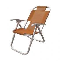 Cadeira de Praia Botafogo Reclinável Grand Ipanema Extra Alta - Laranja - Chapelaria botafogo