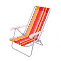 Cadeira de praia reclinável em 4 posições - Mor