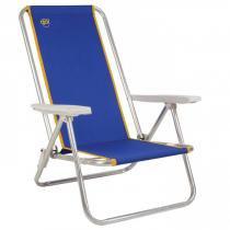 Cadeira de Praia Reclinável Fiesta em Alumínio Azul Coleman Go! -