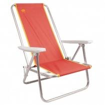 Cadeira de Praia Reclinável Fiesta em Alumínio Coral Coleman Go! -