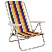 Cadeira de Praia Reclinável Fiesta em Alumínio Listrado Coleman Go! -