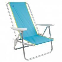 Cadeira de Praia Reclinável Island em Alumínio Azul Claro Coleman Go! -