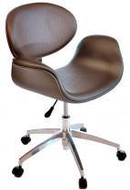Cadeira Decorativa Tulipa Pierre Paulin - Giratória Grafite - Industria das Cadeiras