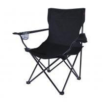 Cadeira Dobrável com Apoio de Braço Alvorada 290380-PT Preta - Nautika - Nautika
