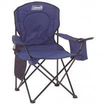 Cadeira Dobrável com Cooler Térmico e Porta Copo Azul Coleman -