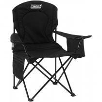 Cadeira Dobrável com Cooler Térmico e Porta Copo Preta Coleman -