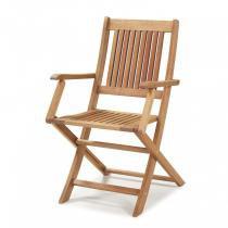 Cadeira Dobrável em Madeira Maciça com Braços Primavera Casa e Jardim Móveis Stain Jatobá -