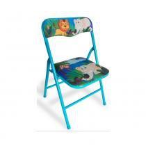 Cadeira dobrável Infantil aço azul - Antares - Fabricante padrão