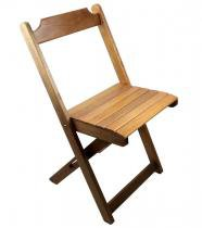 Cadeira dobrável madeira maciça natural - my shop - My shop brasil