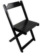 Cadeira Dobrável Madeira Maciça Preto - My Shop - MY SHOP BRASIL