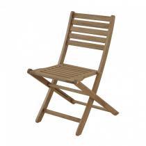 Cadeira Dobrável Nissi sem Braços Casa e Jardim Móveis Stain Canela -