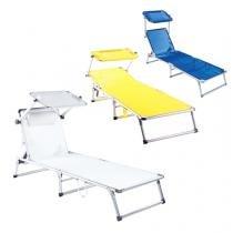 Cadeira Espreguiçadeira Búzios - Alumínio Têxtil - Branco - Bel Fix