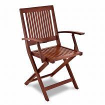 Cadeira Fitt Dobrável com Braço Natural - Tramontina