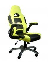 Cadeira Game Chair Com Braço Retratil Preta/Amarela - Flex mesas e cadeiras