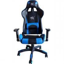 Cadeira gamer br-x com 5 rodas preto e azul - Br-one