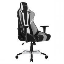 Cadeira Gamer Giratória Xtra Bigger Cp-7 Black White Grey Akracing - Ak racing