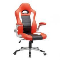 Cadeira Gamer MX2 Giratoria Preto e Vermelho Mymax -