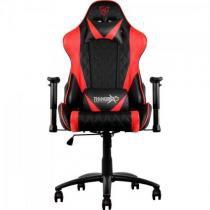 Cadeira gamer profissional tgc15 preta/ vermelha - thunderx3 -