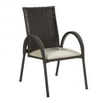 Cadeira Giovana Marrom Escuro Art ferro