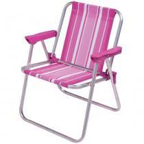 Cadeira Infantil Alta Alumínio Rosa Mor - Mor