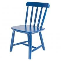 Cadeira Infantil em Madeira - Acabamento Laqueado Azul - Deiss