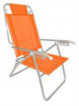 Cadeira Infinita Up Alumínio Laranja Cítrica Zaka -