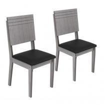 Cadeira MDF Assento Corino 2 Peças - Modocasa Arezo