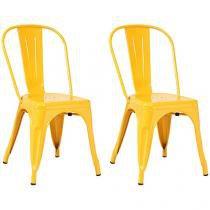 Cadeira Metal Decorativa 2 Peças - Inovakasa Tolix