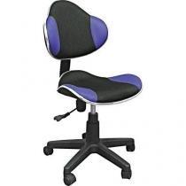 Cadeira para Escritório com Regulagem Preto/Azul - Multivisão - Multivisão
