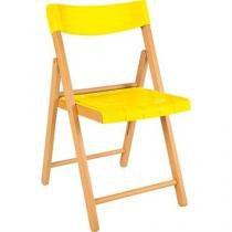 Cadeira Potenza Natural Com Amarelo - Tramontina