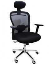Cadeira Presidente CEOErgon Tela Mesh - Máxima Ergonomia - Preta - Industria das cadeiras