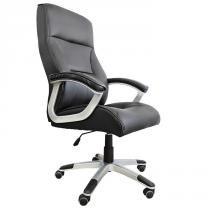 Cadeira Presidente em Couro PU PEL-8028H/3 Preta - Pelegrin