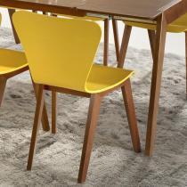 Cadeira Primer - Base com Acabamento Verniz Poliuretano - Madeira Lyptus - Sunset/ Amarelo - Seiva