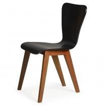 Cadeira Primer - Base com Acabamento Verniz Poliuretano - Madeira Lyptus - Sunset/ Preto - Seiva