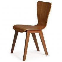 Cadeira Primer - Base com Acabamento Verniz Poliuretano - Madeira Lyptus - Sunset/ Sunset - Seiva