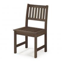 Cadeira Ripada para Áreas Externas em Madeira Eucalipto - Maior Durabilidade  Nogueira - CasaTema