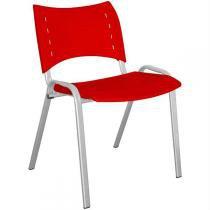 Cadeira Stillus Plástica Vermelha - Multivisão - Multivisão