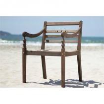 Cadeira Varanda 100 Madeira Nogueira - Mão  Formão - Mão  Formão
