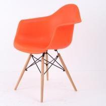 Cadeira Vegas Base Madeira Laranja - Goede móveis